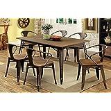 Furniture of America Cadiz 7-Piece Industrial Dining Set