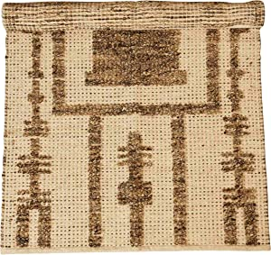 Creative Co-op 3' x 5' Patterned Wool & Cotton Woven Rug, Brown