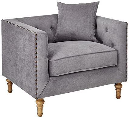 amazon com major q modern gray velvet cozy elegant wooden turned