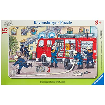 Ravensburger Fireman Car Jigsaw Puzzle (15 Piece): Toys & Games