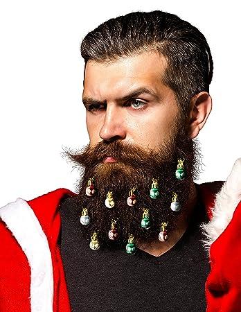 Amazon.com: Beardaments Beard Ornaments, 12pc Colorful Christmas ...