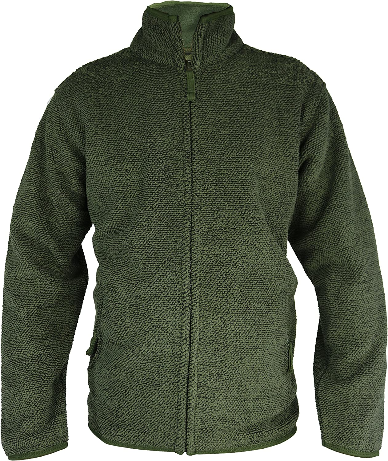 Soft Textured Outer Material with Heavy Inner Fleece Winter Outdoor Woolly M-6XL Raphael Valencino All Thick Warm Paded Full Zipped Fleece Jacket with 2 Front Zip Pockets
