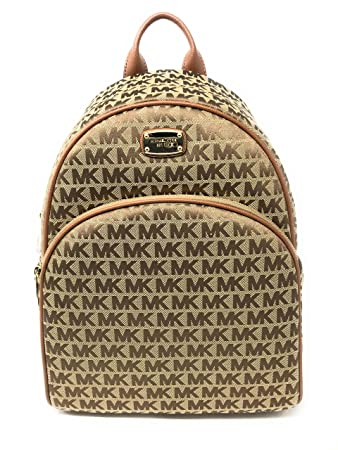 4c5dce88fdbc Amazon.com: Michael Kors Signature Abbey Large Backpack for Women Beige