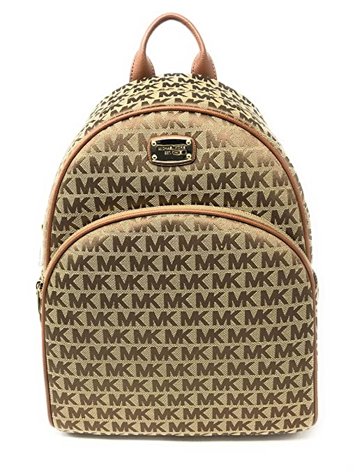 7a29dbdc99a Michael Kors Signature Abbey Large Backpack for Women Beige