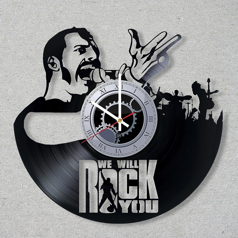 Amazon.com: vinyl record wall clock freddie mercury legend queen