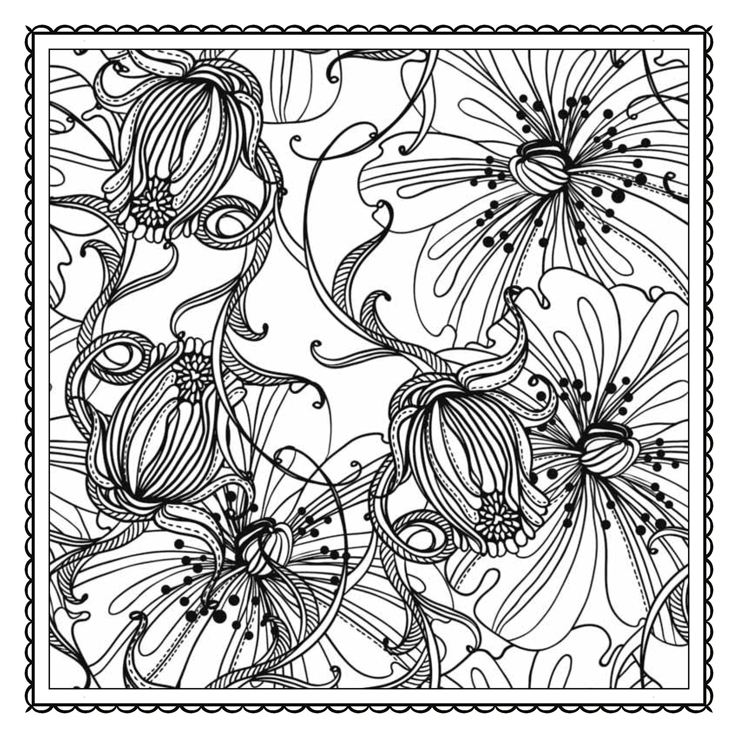 Colouring in pictures of flowers - Magic Garden Fantastic Flowers Coloring Book For Adults Color Magic Arsedition 0027011406393 Amazon Com Books