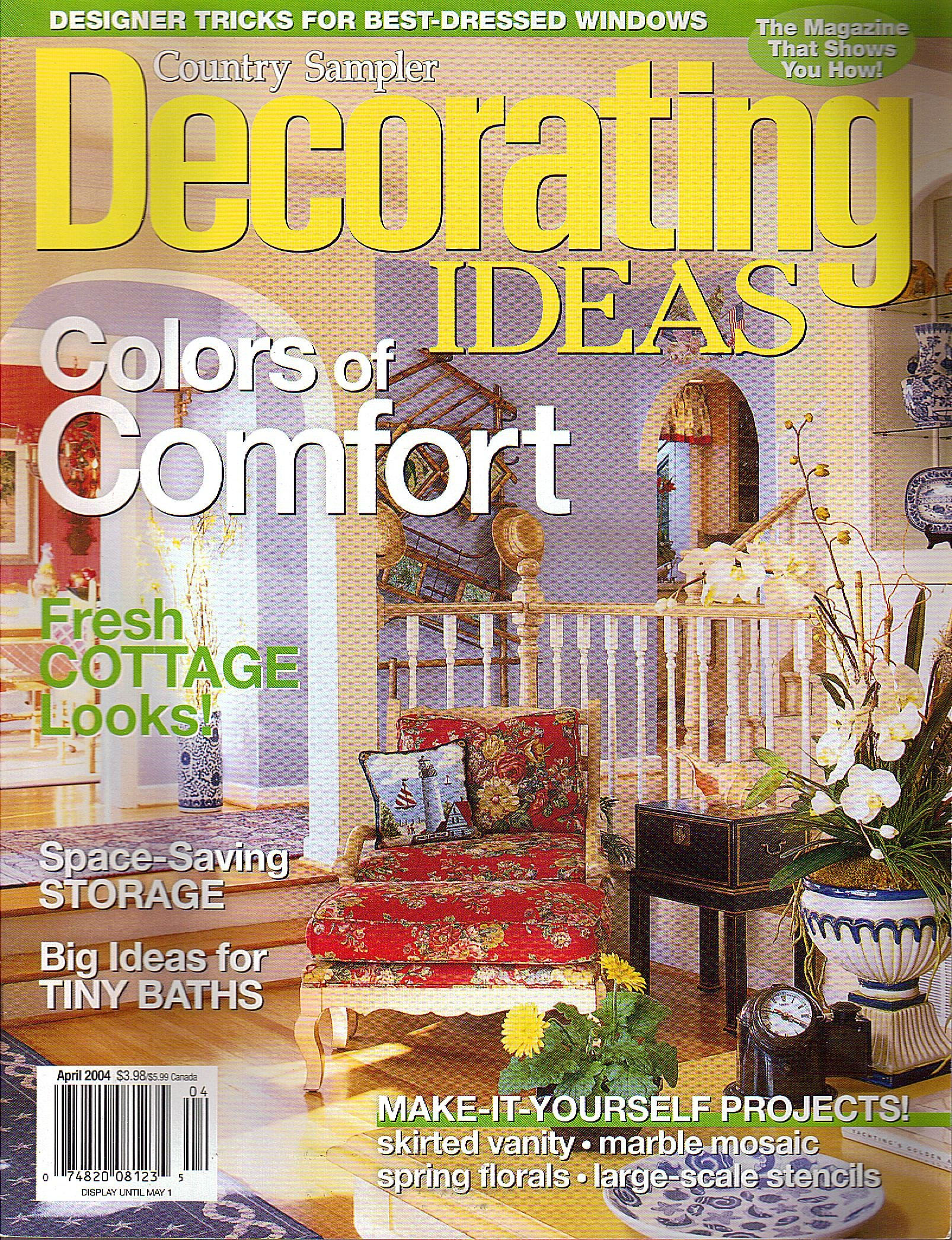 Country Sampler Decorating Ideas Magazine (April, 2004 ...