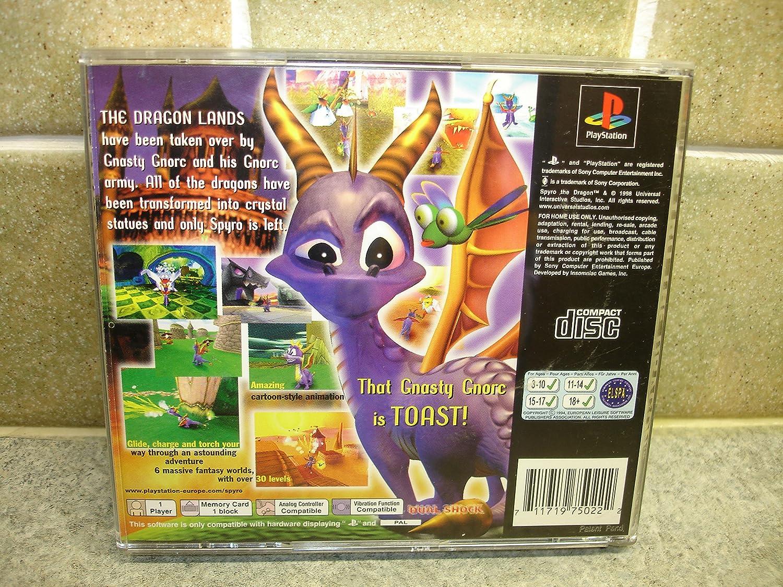 spyro the dragon 1998 playstation amazon co uk pc u0026 video games