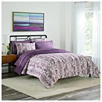 Simmons Emerson Bed in a Bag 7 Piece Comforter Set, King, Berry