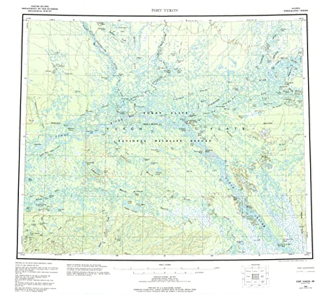 Fort Yukon Alaska Map.Amazon Com Yellowmaps Fort Yukon Ak Topo Map 1 250000 Scale 1 X