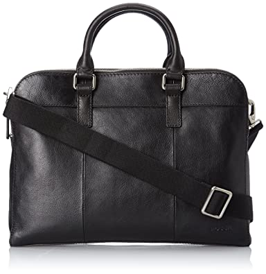Amazon.com: Fossil Mercer Top Zip Workbag, Black, One Size: Shoes