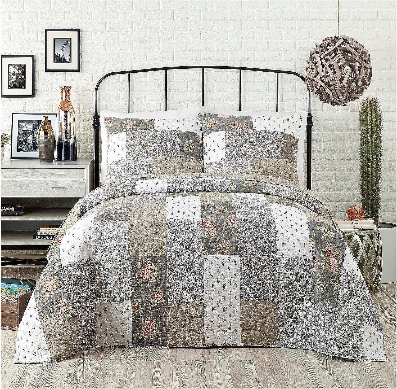 Jessica Simpson Floribunda Bedding, 1-Piece Standard Sham, Grey
