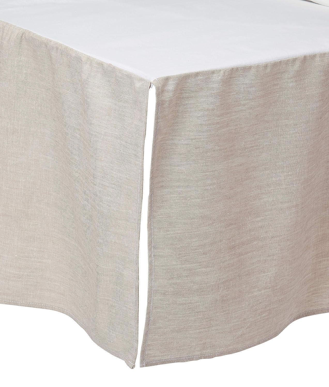 Flax Linen Crib Skirt 16 Drop Liz and Roo