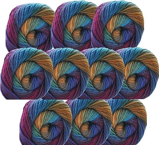 Blue Cake Yarn 2 X 250g Double Knit. Acrylic 500g Knitting Wool// Yarn