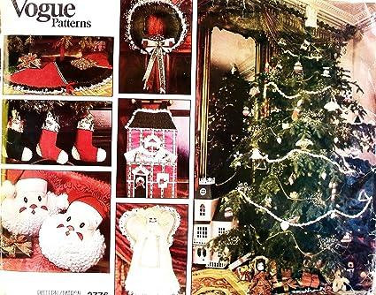 Amazon Com 80 S Vintage Uncut Vogue 2776 Christmas Crafts