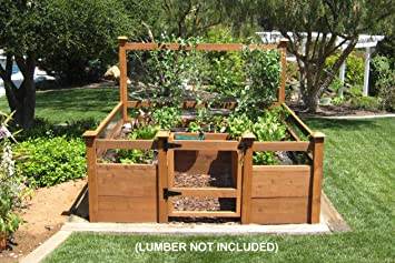 Amazoncom Just Add Lumber Vegetable Garden Kit 8x8 Deluxe