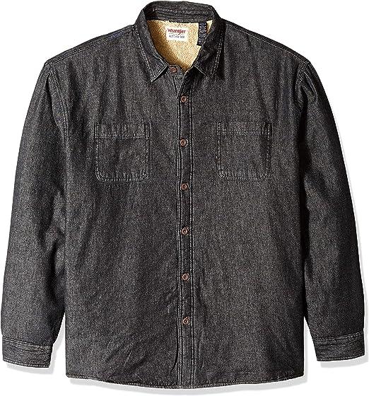 Wrangler Men/'s Denim Indigo Slim Fit Shirt Snaps Bouton Supérieur taille S