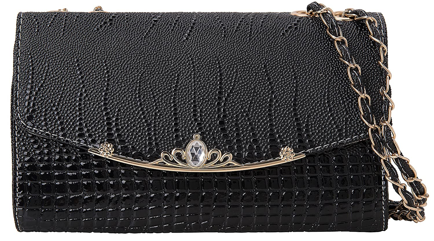 ROMANTOPIA Evening Clutch Purse Crossbody Bag For Women