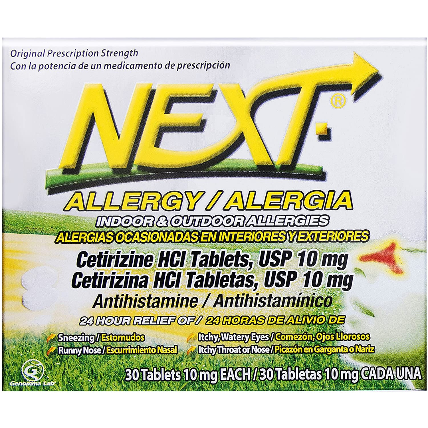 Amazon.com: Next 24 Hour Allergy Tablets Prescription Strength Antihistamine Cetirizine, 30 Count: Health & Personal Care