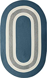 "product image for Crescent Oval Area Rug, 8"" x 11"", Lake Blue"