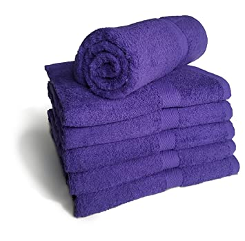 Amazoncom Royal Comfort Purple 24x48 Bath Towels By 90 Lbs Per