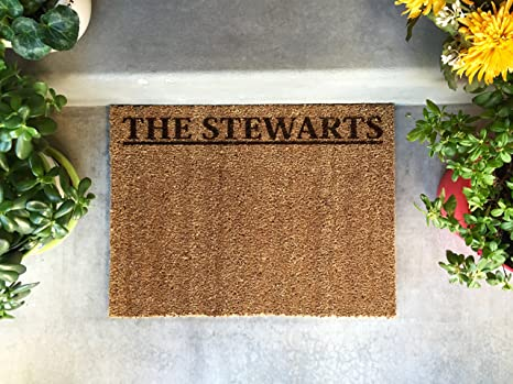Attrayant Qualtry Personalized Door Mats Outside   Custom Doormat Outdoor Or Beach  Welcome Mat (Medium Size