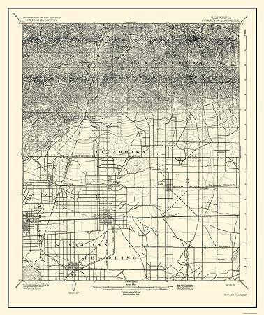 Amazon Com Topographical Map Print Cucamonga California Quad