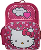 """Hello Kitty Deluxe embroidered 16"""" School Bag Backpack"""