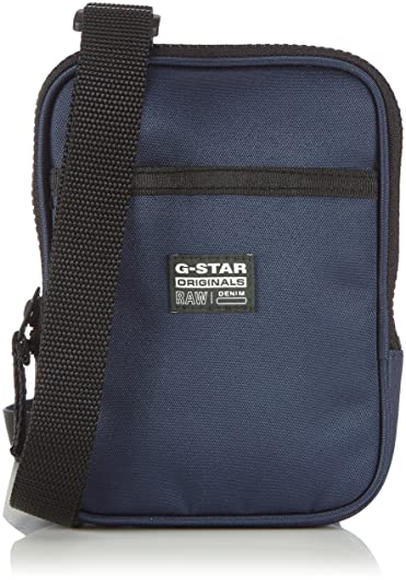 G-Star Originals Small Pouch - Bolso bandolera para hombre, color azul (indigo