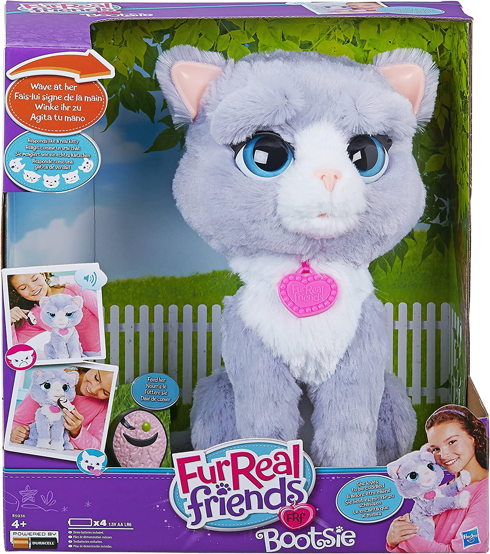 Hasbro B5936 FurReal Friends interaktive KATZE Bootsie Plüsch Kätzchen Stofftier