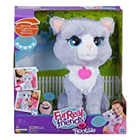 Hasbro FurReal Fur Real Friends B5936EU40 Gattina Bootsie, Grigio