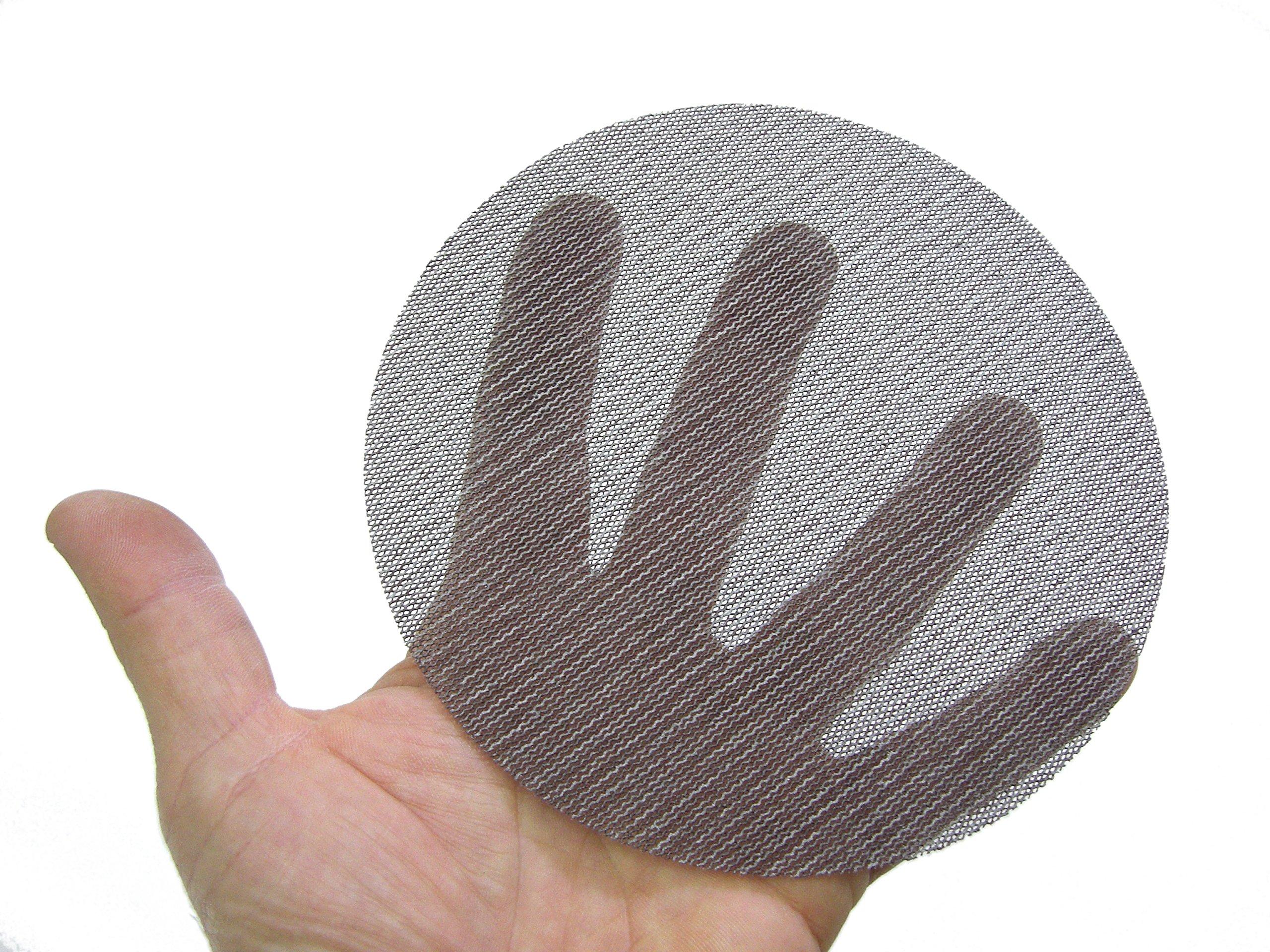 Mirka 9A-232-320 Abranet 5'' 320 Grit Mesh Abrasive Dust Free Sanding Discs (Box of 50 Discs) by Mirka (Image #2)
