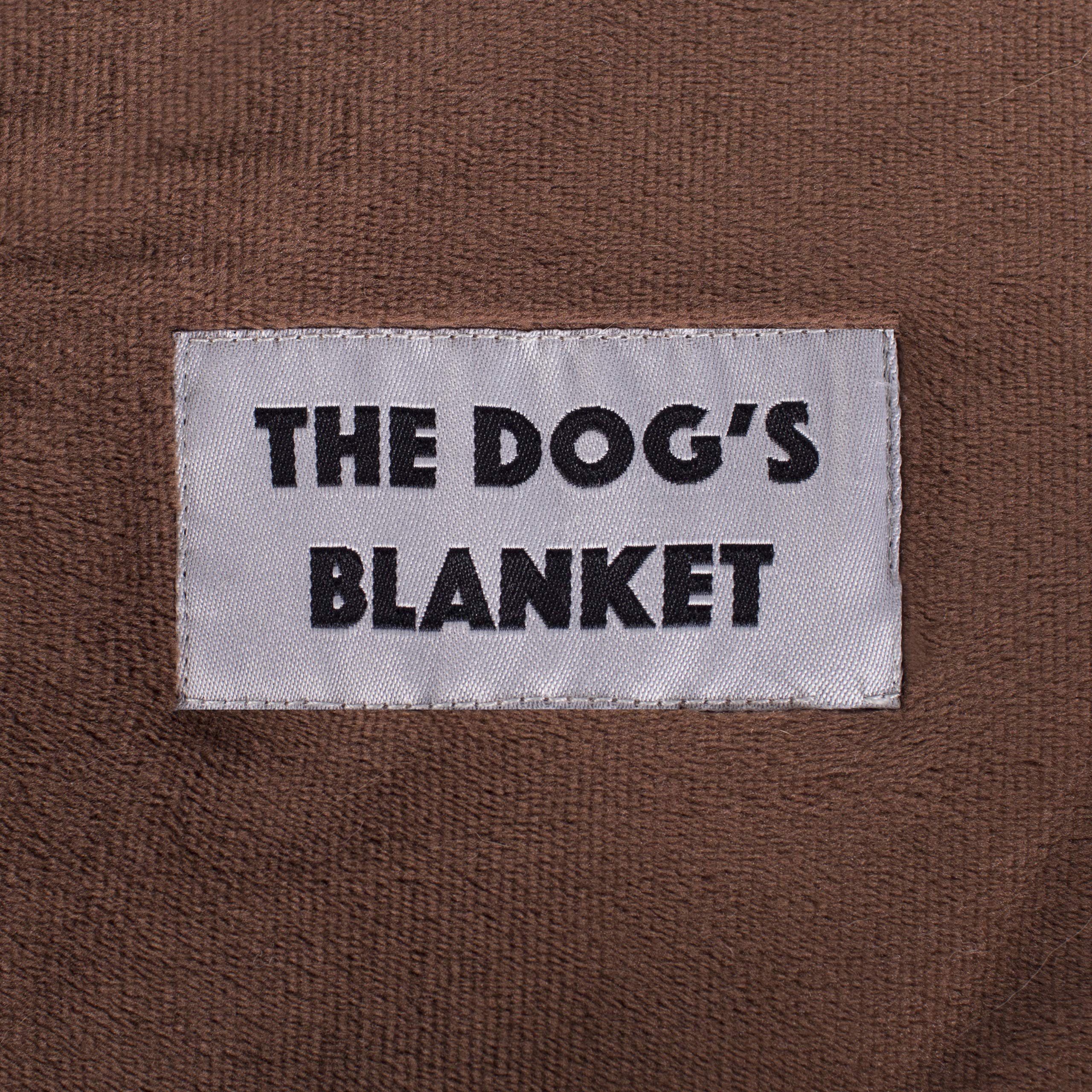 The Dog's Blanket, Premium Quality Dog Blanket in Brown XL 54x38, Reversible, Microfiber Luxury for Your Dog or Puppy to Enjoy