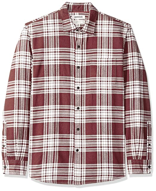 cf2262683f504 Amazon Brand - Goodthreads Men's Standard-Fit Long-Sleeve Brushed Flannel  Shirt