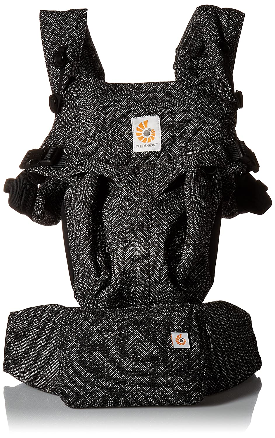 Ergobaby OMNI 360 All-in-One Ergonomic Baby Carrier, All Carry Positions, Newborn to Toddler, Herringbone BCS360HERR