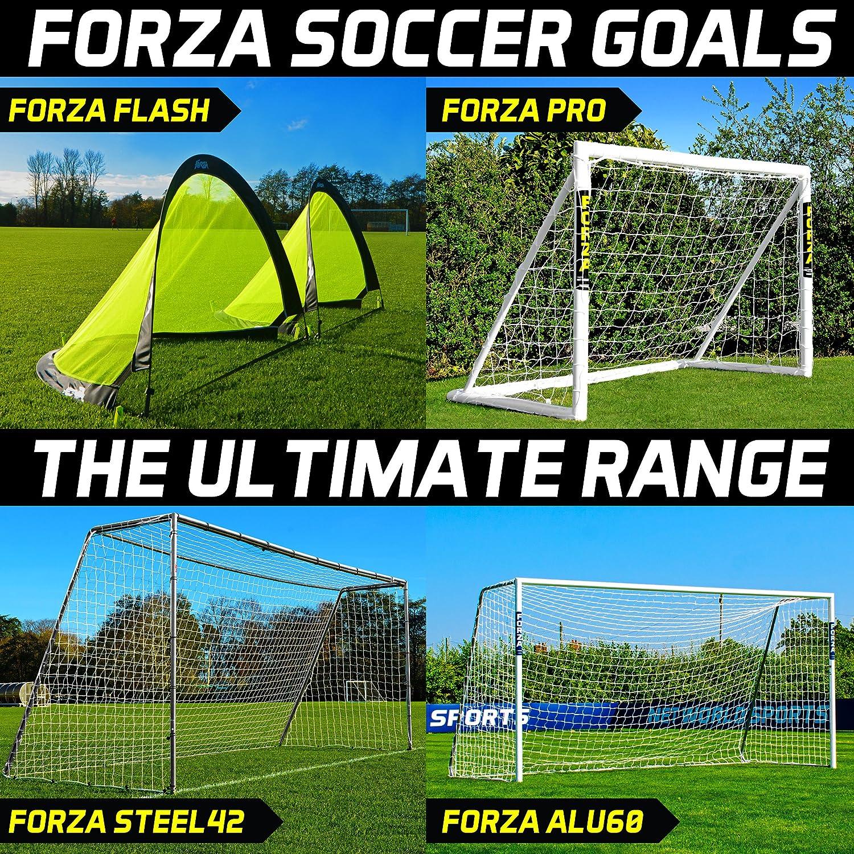 Forza Soccer目標 – 究極の範囲 – ポップアップターゲット目標、裏庭目標、スチール目標、アルミ目標、すべてのサイズ[ Net世界スポーツ] B01M1P2R2L 12ft x 6ft|FORZA Steel42 FORZA Steel42 12ft x 6ft