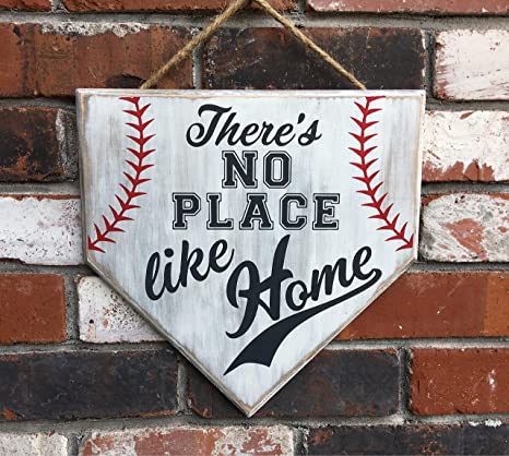 Amazon Com No Place Like Home Baseball Sign Wood Sign Home