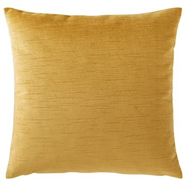 Rivet Velvet Texture Striated Pillow, 17  x 17 , Honeycomb