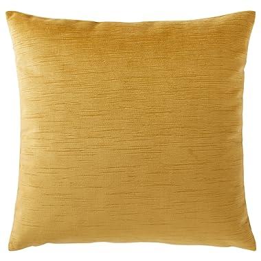 Rivet Velvet Texture Striated Decorative Throw Pillow, 17  x 17 , Honeycomb
