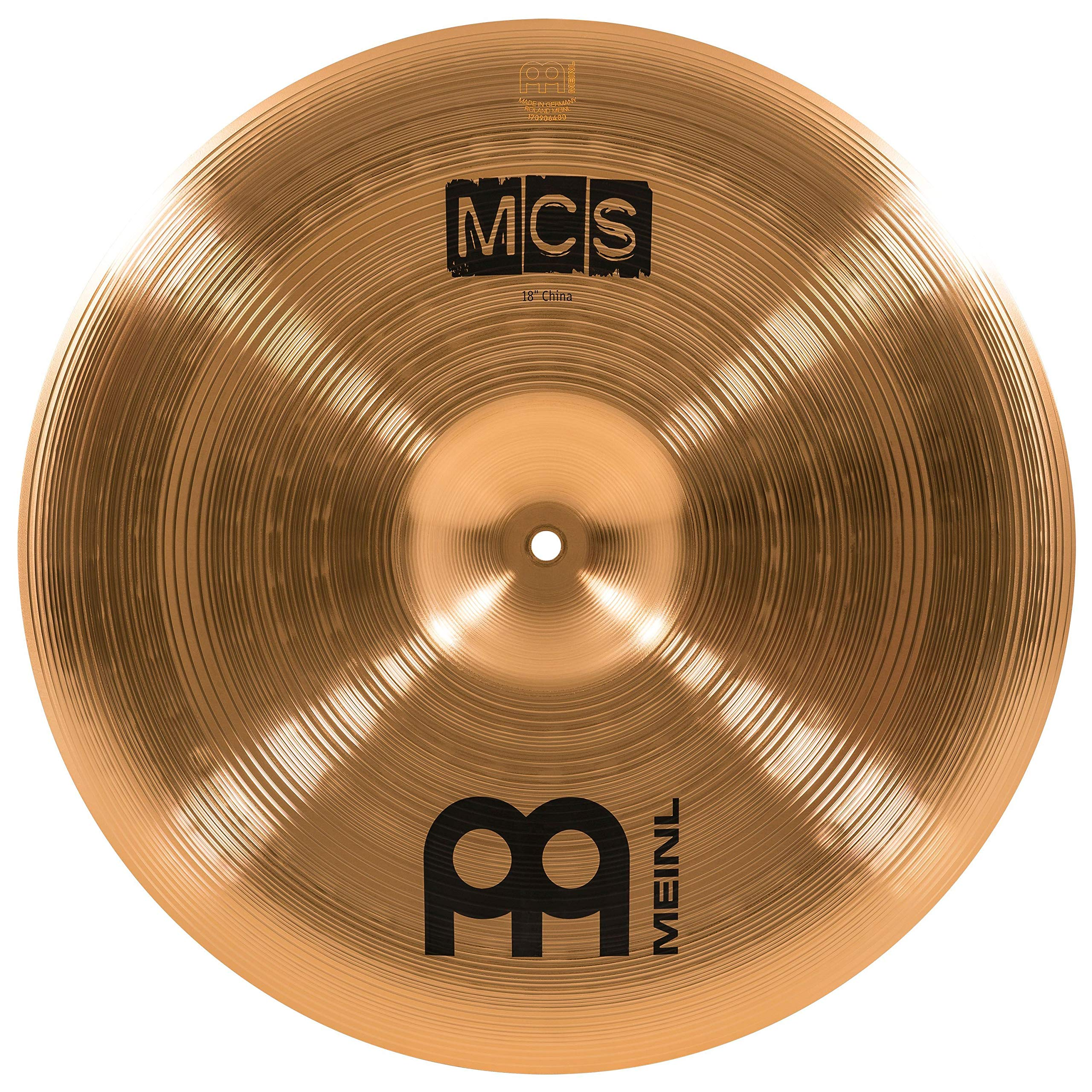 Meinl 18'' China Cymbal - MCS Traditional Finish Bronze for Drum Set Use, Made In Germany, 2-YEAR WARRANTY (MCS18CH) by Meinl Cymbals