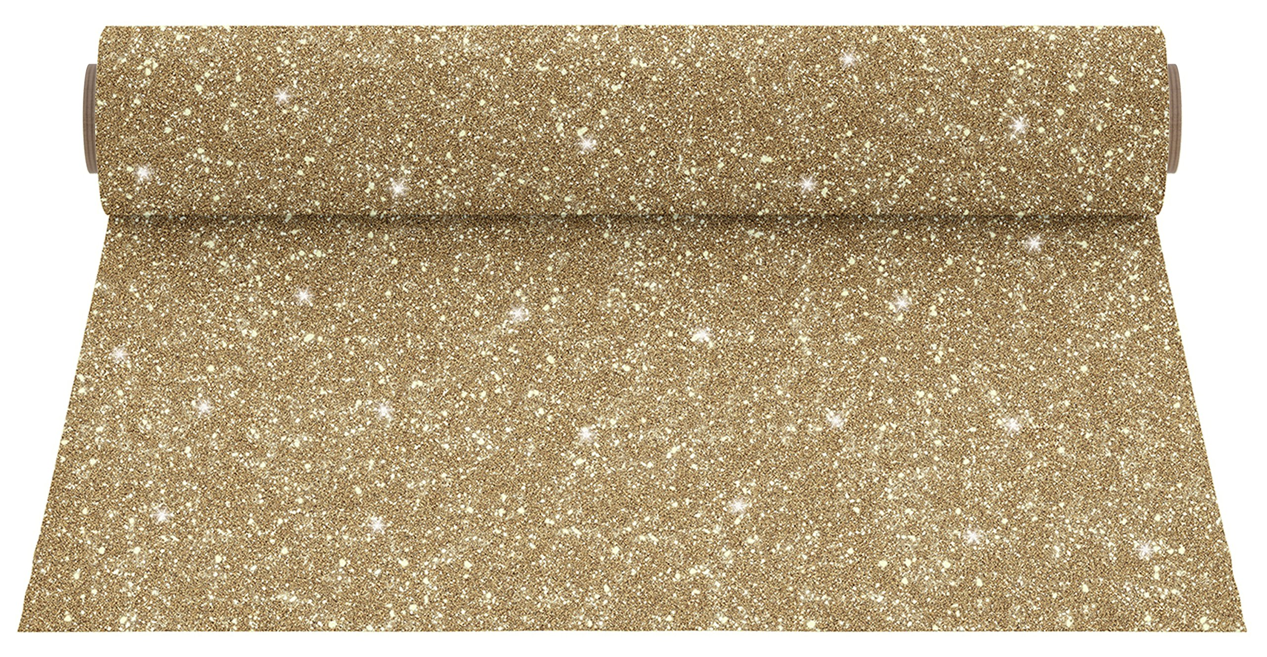Firefly Craft Glitter Heat Transfer Vinyl for Silhouette and Cricut, 12.5 Inch by 5 Feet Roll, Gold