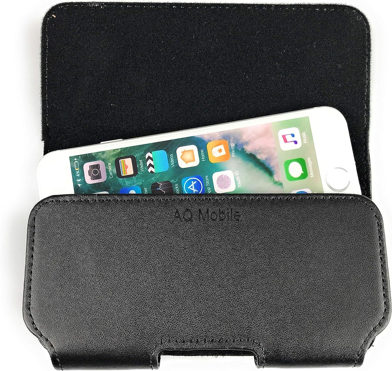 AQ Mobile /étui Ceinture pour Apple iPhone 8 // Apple iPhone 7 // Apple iPhone 6 Passant de Ceinture pour t/él/éphone sans Bumper ou Coque suppl/émentaire Vrai Cuir