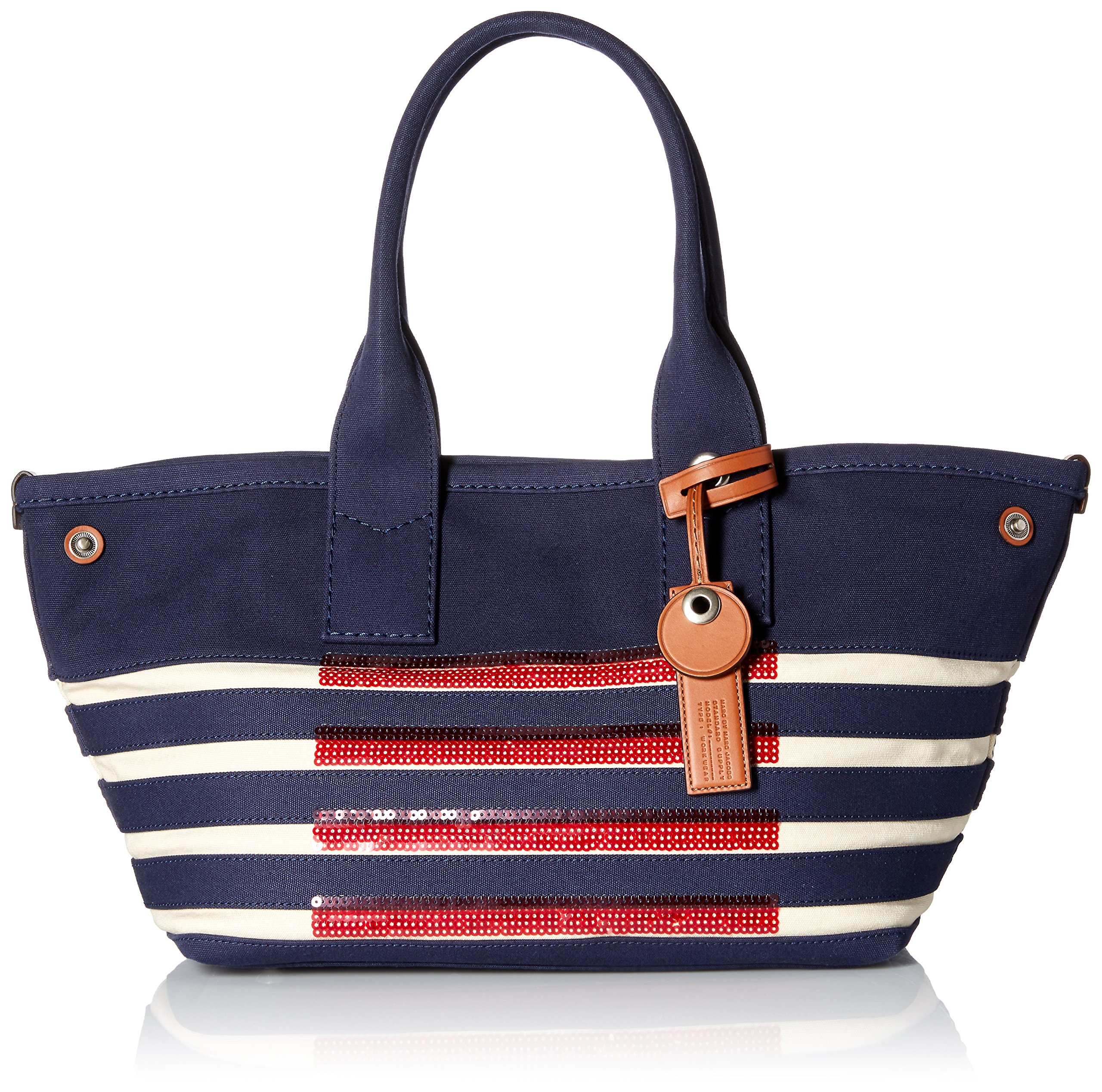 Marc by Marc Jacobs ST Tropez Tote Bag, New Prussian Blue/Ecru, One Size by Marc by Marc Jacobs (Image #1)