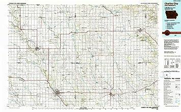 Amazon Com Yellowmaps Charles City Ia Topo Map 1 100000 Scale 30