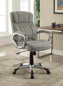 Serta Hannah Executive Office Chair, Light Grey