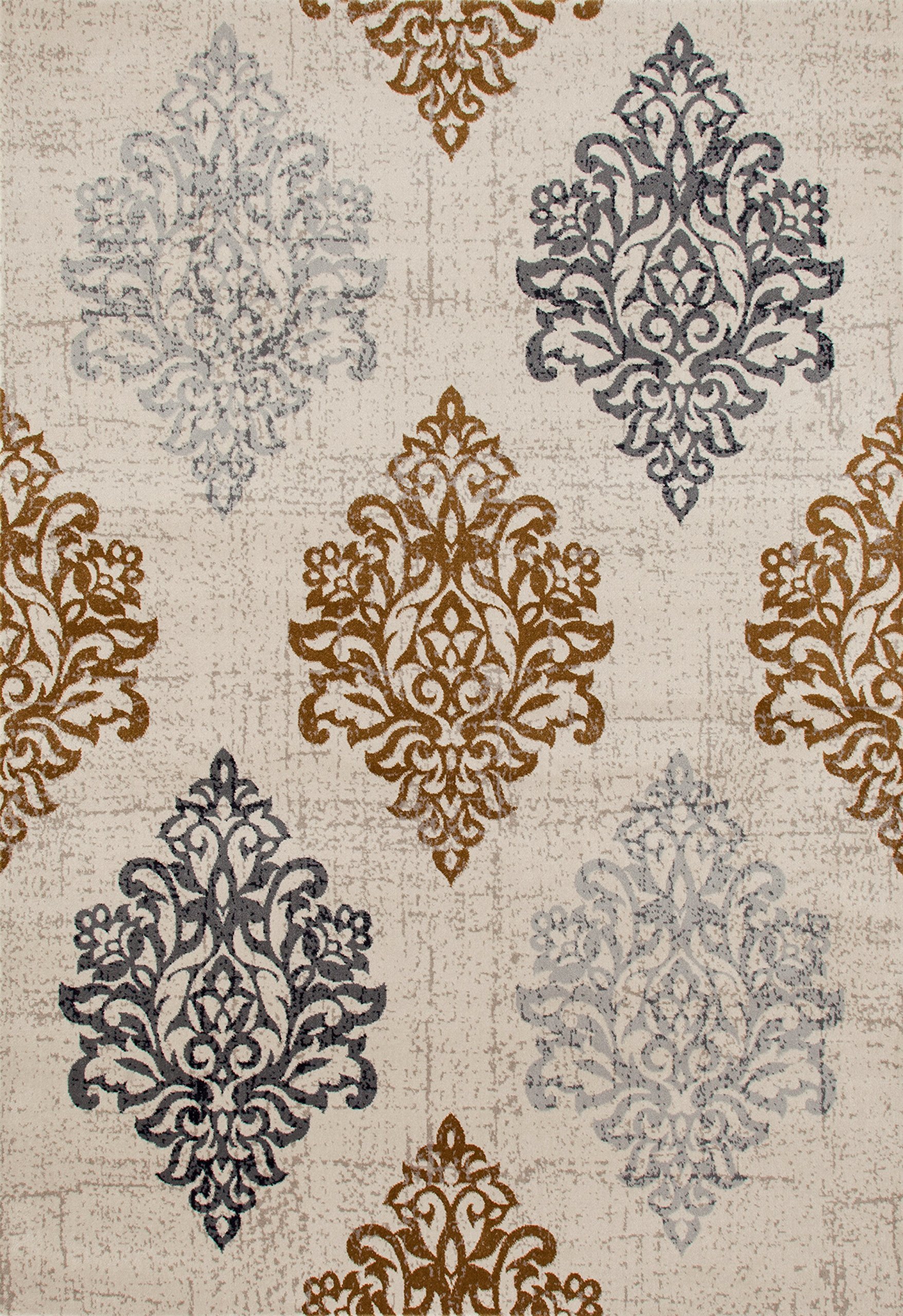 """Transitional Damask Soft Yellow 3'3"""" x 5' Area Rug (New) - HIGH QUALITY AREA RUG,Soft and Plush to walk on, Perfect for your home,Living room,Dining Room,Kitchen,office Made in Turkey, 100% Polypropylene Machine made area rug with jute backing. These rugs will naturally resist stains, fading, soil and bacteria making them perfect addition to homes with kids and pets. Brand new, Great value area rug. The high-quality polypropylene pile fiber adds durability and longevity to these rugs, the power loomed construction adds durability to this rug, ensuring it will be a favorite for a long time. - living-room-soft-furnishings, living-room, area-rugs - A1DQCRclH1L -"""