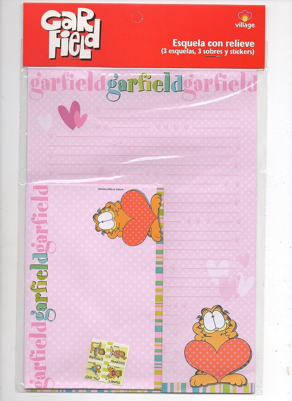 Kits Set of Letters enveloppe sticker Garfield Pink
