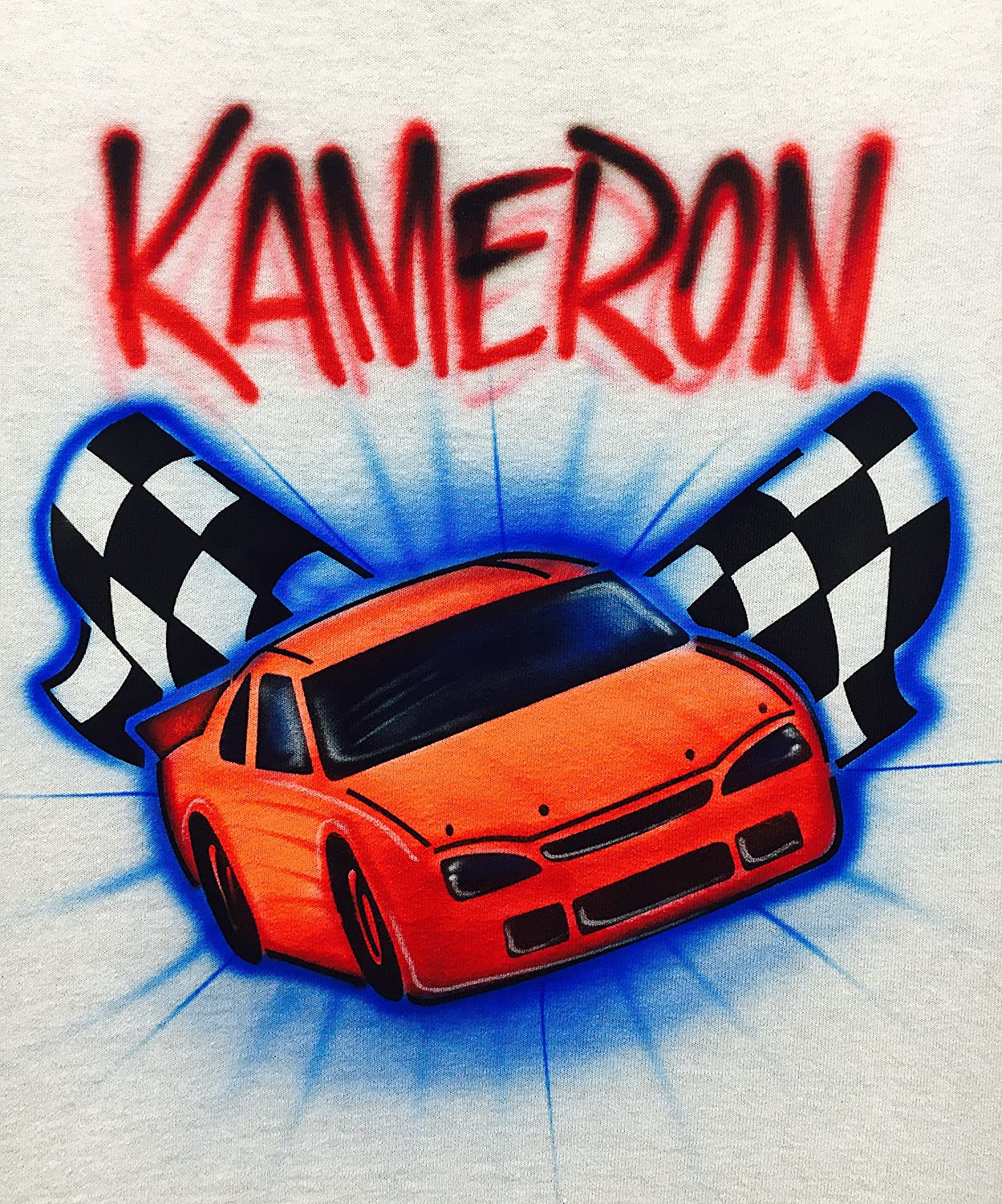 Airbrush T Shirt, Race Car, Stock Car, NASCAR kids T