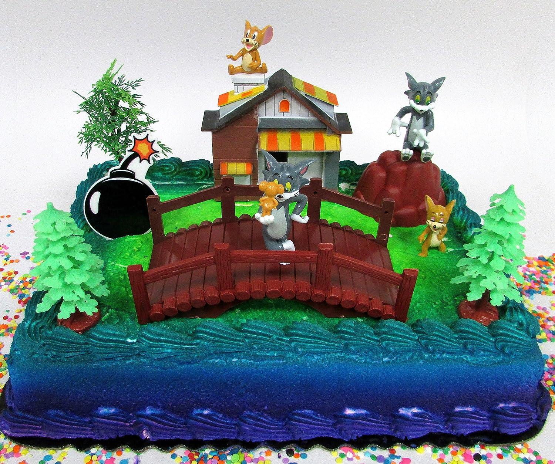 Amazon Tom And Jerry 11 Piece Birthday Cake Topper Set