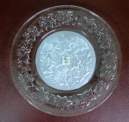 Set of 4 Fantasia Clear Crystal Dinner Plates with Frosted Center - A Princess House Exclusive & Amazon.com | Set of 4 Fantasia Clear Crystal Dinner Plates with ...